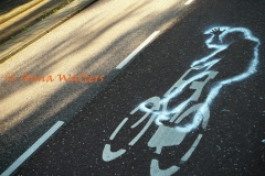 de vrolijke fietser